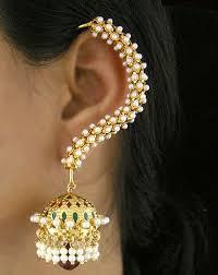 gold ear cuffs buy pair of gold plated trendy ear cuffs by kavya jethmalani