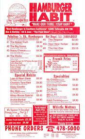 southern thanksgiving menu hamburger habit menu los angeles dineries