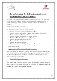 chambre de commerce du maroc prospection et des démarchages des entreprises etrangeres presentes a