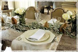 inspirations holiday table decor with table setting decoration