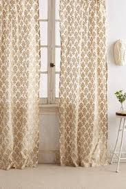 taupe jacquard curtain