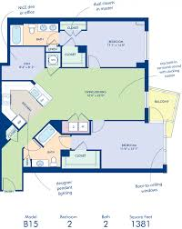 studio 1 2 bedroom apartments in washington dc camden south blueprint of b15d floor plan 2 bedrooms and 2 bathrooms at camden south capitol apartments