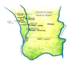 Platte River Map River Access Parks Papio Nrd Nebraska