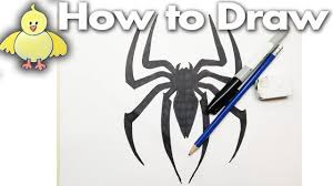 how to draw the spiderman logo drawing tutorial step by step