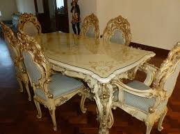 Baroque Dining Table Italy Original Silik Baroque Style Dining Table Set Minerva In