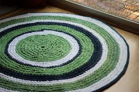 Green Round Rug by Nursery Rug Kelly Green Navy And White Round Rag Rug Recycled