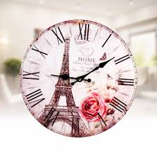 Wall Clocks Canada Home Decor by Online Buy Wholesale Eiffel Tower Wall Clock From China Eiffel