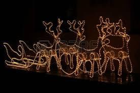 christmas decoration reindeer and sleigh christmas lights