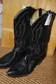 womens size 12 black cowboy boots vintage 80s 90s cowboy gold metallic cowboy boots i