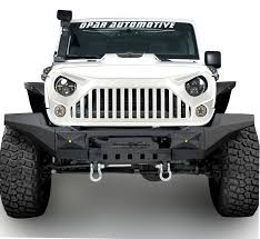 matte white jeep 2 door full white front topfire grille grill for jeep wrangler 2011 2017