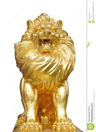 gold lion statue isolated lion statues stock photo image of sculpture 19976718