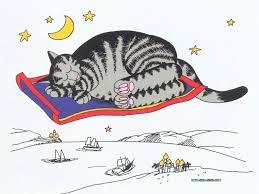kliban cat dreams of magic carpet cats kliban cat