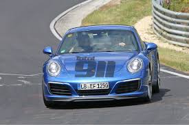 blue porsche 2016 first pictures 2016 porsche 911 spied without camouflage total 911