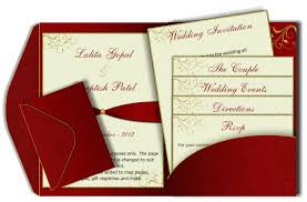 invitation card design template for event red gold pocket style email wedding card template luxury indian