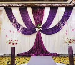wedding backdrop aliexpress free shipping white purple swag drape for wedding pipe