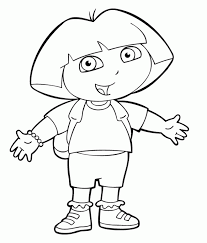 dora coloring pages coloring book