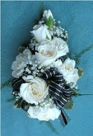 and black corsage black white silver corsage in kennett square pa barber s