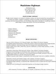 Hr Generalist Sample Resume by Cosy Interior Design Resumes 9 Interior Designer Resume Samples