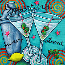 godard martini retro martini painting by lisa lorenz