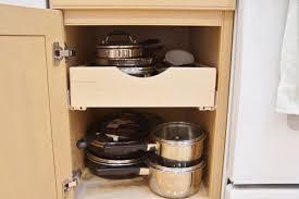 Kitchen Cabinet Rolling Shelves Installing Rolling Shelves In Kitchen Cabinets 2 Heartwork