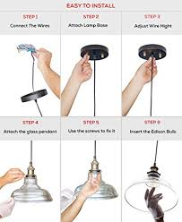 Installing Pendant Light Fixture Glass Pendant Light The Loft With Vintage Edison Light Bulb 7