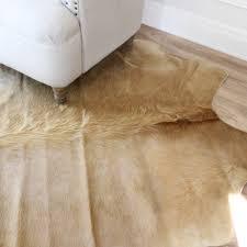 Cheap Cowhide Rugs Australia Solid Beige Genuine High Quality Cowhide Floor Rug Eluxury Home