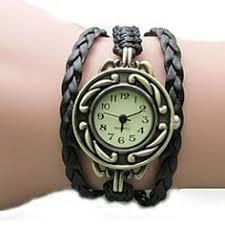 light in the box weave women s vintage dial rose style pu band quartz analog bracelet watch