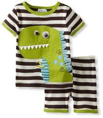 mud pie baby boys newborn dinosaur pajama set multi 6 9