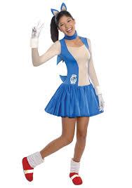 teen halloween costumes teen girls sonic dress costume