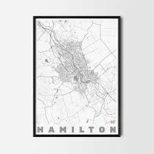 hamilton gift map art prints and posters home decor gifts