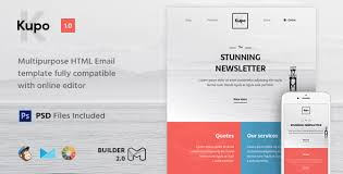 kupo html email template builder 2 0 campaign monitor