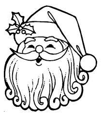 joyful santa claus curly beard christmas coloring