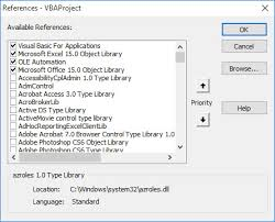 how to add vba references internet controls html object library