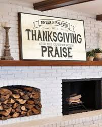 enter his gates with thanksgiving farmhouse wall decor walls