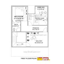 house plan for 27 feet by 37 feet plot plot size 111 square yards