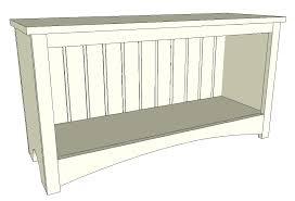 Beadboard Bench - piper bench u2013 old paint design