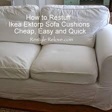 Sofa Seat Cushions by How To Restuff Ikea Ektrop Sofa