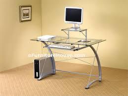 computer desk glass metal metal and glass computer desks glass and metal computer desk
