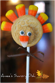 thanksgiving oreo cookies adorable turkey cookie pops amee u0027s savory dish