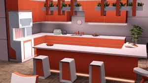 sims kitchen ideas sims 3 kitchen ideas new fresh orange kitchen recolor the sims 3