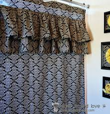 Ruffled Shower Curtain Decorate My Home Part 17 Ruffled Shower Curtain Make It And