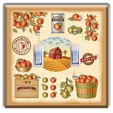 apple crate labels light switch plate cover wall decor kitchen