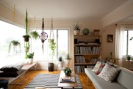 marvelous ideas of fake plants for living room by hanging the