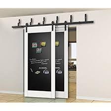 8 Ft Patio Door Amazon Com Diyhd 8ft Top Mount Solid Double Head Barn Door 3pcs