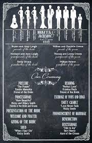 wedding program chalkboard chalkboard wedding program emakesolutions