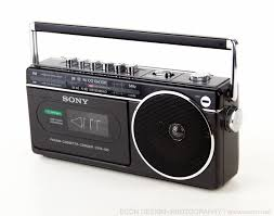 vintage sony cfm 120 am fm radio cassette recorder player portable