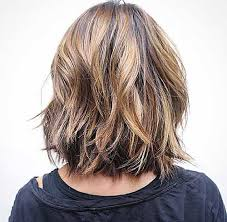 images front and back choppy med lengh hairstyles short choppy front hair with long wavy bob haircut in back view