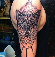 Wolf Indian Tattoos - 20 best wolf designs with meanings styles at