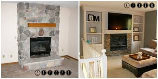 Built In Bookshelves Fireplace by Remodelaholic Fireplace Makeover With Built In Shelves