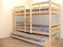Bunkbed With Trundle Guest Bed Ft Single Bunk Bed With Underbed - Single bunk beds